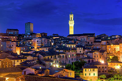 Photograph - Siena At Night by Fabrizio Troiani