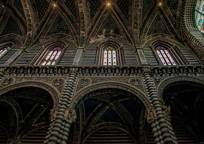 Photograph - Siena Catedral, Interior by Radoslav Nedelchev