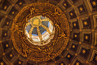 Photograph - Siena Cathedral Dome Interior by Carolyn Derstine