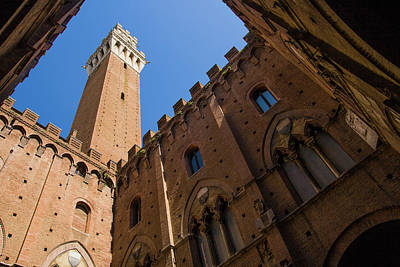 Photograph - Siena Clock Tower by Jay Moore