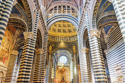 Photograph - Siena Duomo by Delphimages Photo Creations