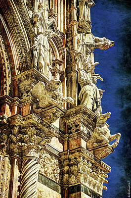 Photograph - Siena Duomo Statues 1 by Weston Westmoreland