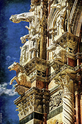 Photograph - Siena Duomo Statues 2 by Weston Westmoreland