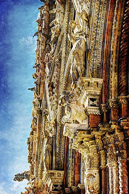 Photograph - Siena Duomo Statues 3 by Weston Westmoreland