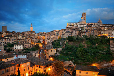Photograph - Siena Evening by Songquan Deng