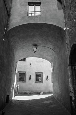 Photograph - Siena Italy Alley Black And White  by John McGraw