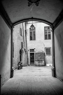 Photograph - Siena Italy Alley With Vespa  by John McGraw
