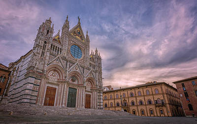 Spot Of Tea Royalty Free Images - Siena Italy Cathedral Morning Royalty-Free Image by Joan Carroll