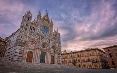 Siena Wall Art - Photograph - Siena Italy Cathedral Morning by Joan Carroll