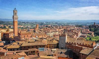 Siena Italy Cityscape Art Print by Joan Carroll