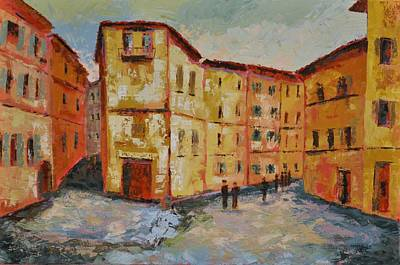 Tuscan Hills Painting - Siena Italy by Ginger Concepcion