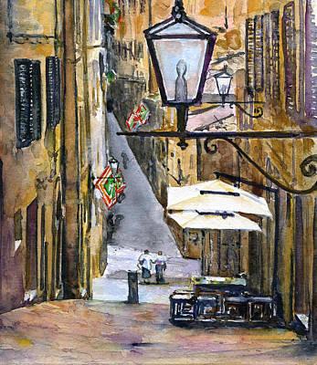 Painting - Siena Italy by John D Benson