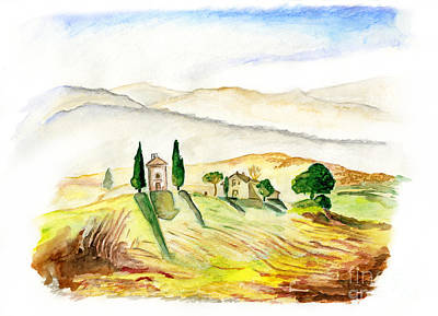 Painting - Siena. Italy by Kseniya Lisitsyna