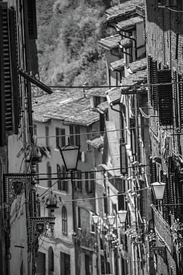 Photograph - Siena Italy Street With Lamps  by John McGraw