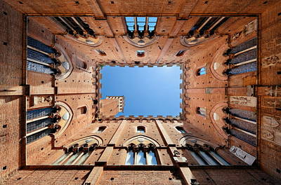 Photograph - Siena Patio Bell Tower by Songquan Deng