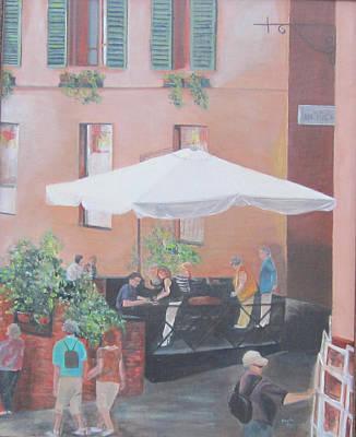 Espresso Painting - Siena by Paula Pagliughi