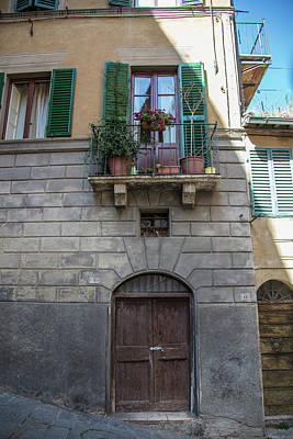 Photograph - Siena Plants And Door  by John McGraw