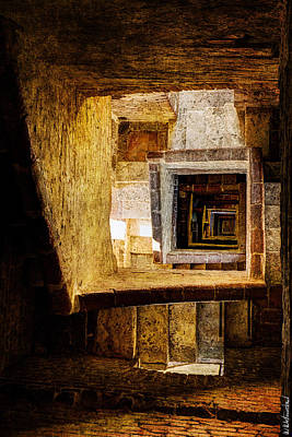 Photograph - Siena - Staircase Of Torre Mangia - Vintage Version by Weston Westmoreland