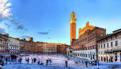 Photograph - Siena - Sunset In Piazza Del Campo by Weston Westmoreland