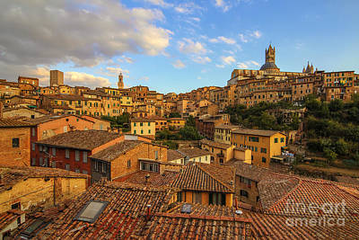 Siena Sunset Art Print