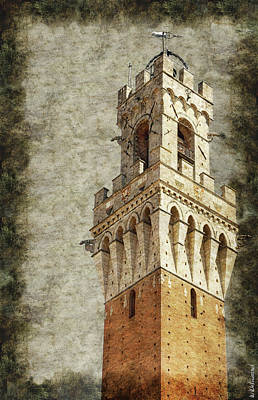 Photograph - Siena Town Hall Tower - Torre Mangia by Weston Westmoreland