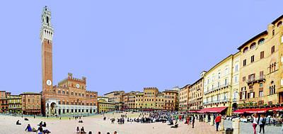 City Scenes - Sienas Plaza by Evan Peller
