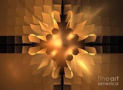 Digital Art - Sienna Gold Petals by Kim Sy Ok