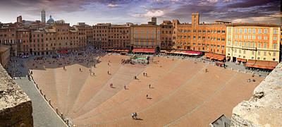Sienna Piazza Art Print
