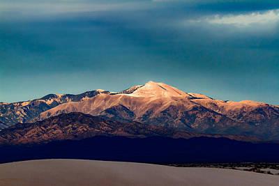 White Sand Photograph - Sierra Blanca Peak In New Mexico  by Ellie Teramoto
