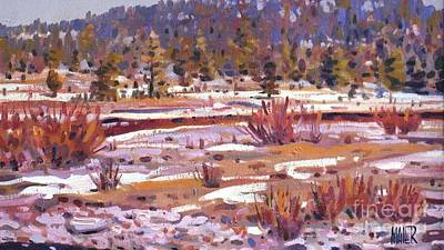 Lake Tahoe Painting - Sierra Creek by Donald Maier