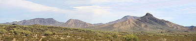 Sierra Estrella Mountains Panorama Art Print by Sharon Broucek