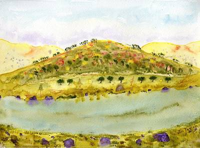 Painting - Sierra Foothill Lake by Jim Taylor