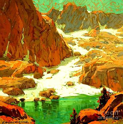 Sierra Landscape Circa 1920 Art Print