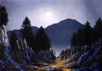 Painting - Sierra Moonrise by Frank Wilson