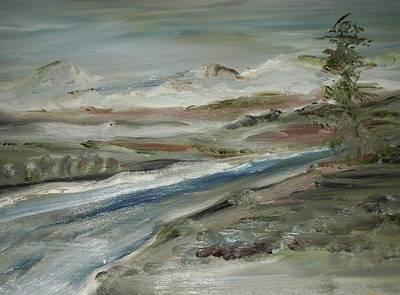 Sierra Mountain Stream Art Print by Edward Wolverton