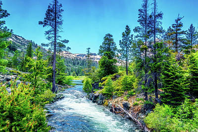 Photograph - Sierra Nevada Creek by Maria Coulson