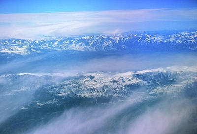 Photograph - Sierra Nevada Mountains From Airplane by John Burk