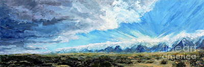 Painting - Sierra Nevada Mountains Outside Independence Ca by Jodie Marie Anne Richardson Traugott          aka jm-ART