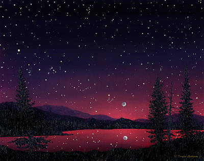 Painting - Sierra Night by Douglas Castleman