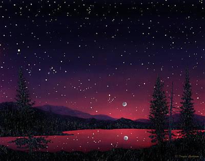 Nightsky Painting - Sierra Night by Douglas Castleman