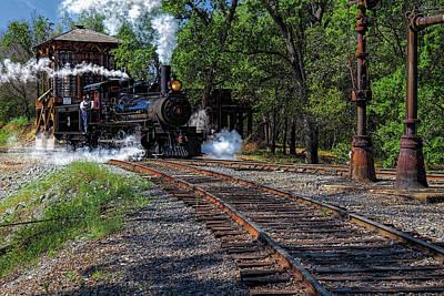 Photograph - Sierra Railway Locomotive by Thomas Hall