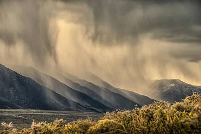Sierra Storm From Panum Crater Art Print