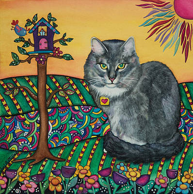 Painting - Sierra The Beloved Cat by Lori A Miller