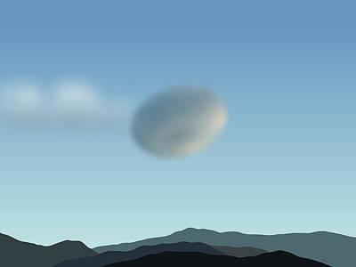 Digital Art - Sierra Wave San Jacintos by Stan  Magnan
