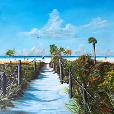 Painting - Siesta Beach Access by Lloyd Dobson