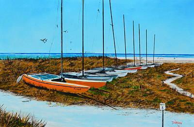 Siesta Key Access #8 Catamarans Art Print by Lloyd Dobson