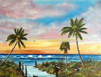 Siesta Key At Sunset Art Print