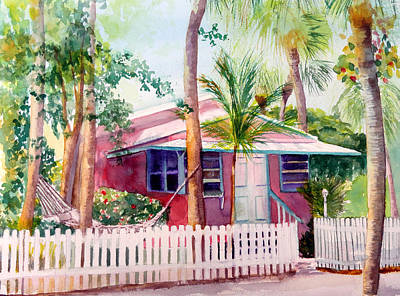 Siesta Key Cottage Art Print