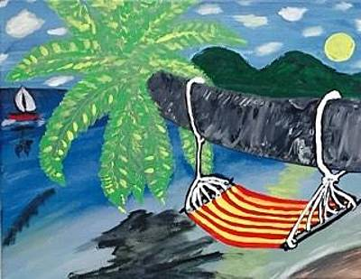 Painting - Siesta Key Florida Painting. Original Acrylic Painting On Canvas. by Jonathon Hansen