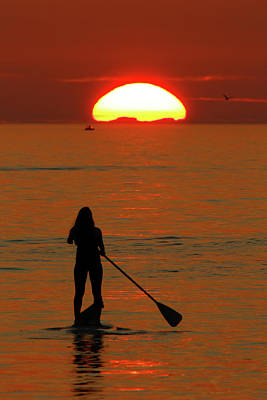 Photograph - Siesta Key Paddle Boarding by David Yunker